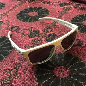 White Polarized Oakley Sunglasses